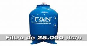 filtros presurizados de 25.000 litros hora