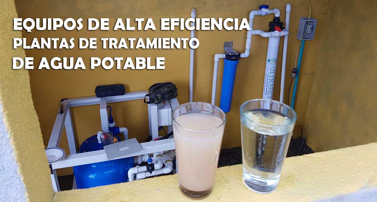 Equipos de alta eficiencia, plantas de tratamiento de agua potable